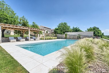 View on the large inviting pool