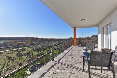 Terrace with a panoramic view in Villa Eva