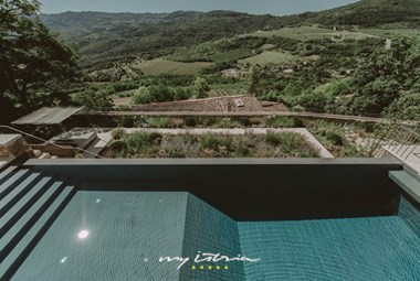 Wonderful infinity pool with a panoramic view over the Mirna valley - Villa Angelo