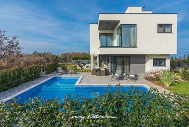The villa is modern and bright