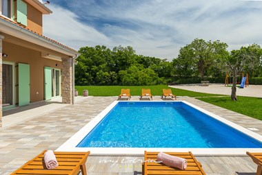 Private pool at Villa Matea in Istria