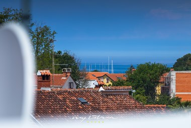 Sea view from the rooftop of modern Villa Buza