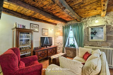 Rustic interior of villa´s ground floor