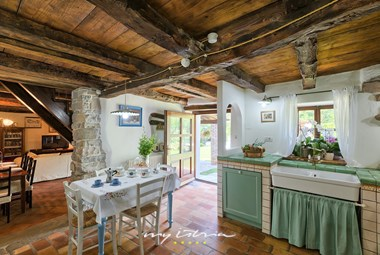 Wonderfully decorated fully equipped kitchen in the villa