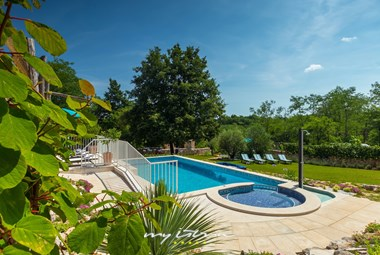 Beautiful, big private pool surrounded by the greenery of the tended garden