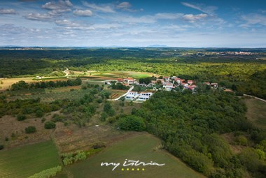 Peaceful location of villa Tonic viewed from above