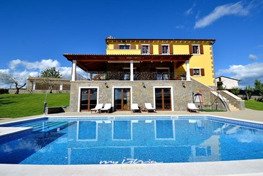 Amazing private pool of our villa in Istria