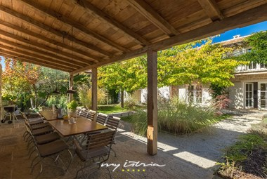 Stunning terrace in the garden of Villa Cipresso