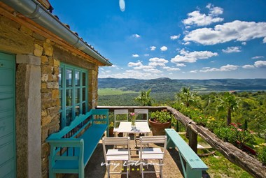 Villa´s terrace with panoramic view