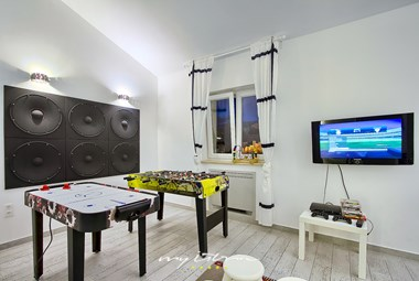 All of the guests will enjoy the games room