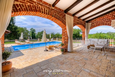 Spacious terrace next to villa´s pool
