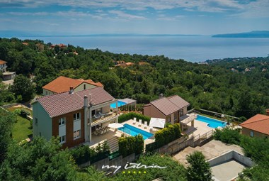 Beautiful, modern villa with private pool and sea view in Opatija
