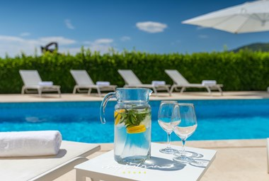 Have a relaxing time in the villa´s private pool