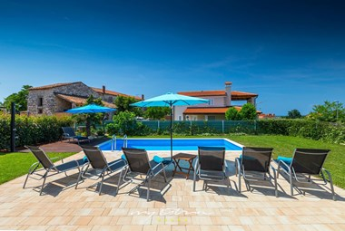 The pool area of the villa is perfect for relaxing