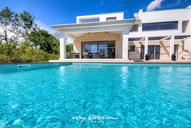 Our holiday villa with an inviting pool