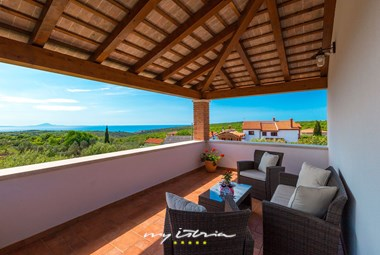 Terrace with stunning view from the villa