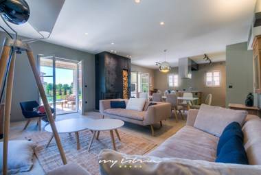 Stylish living room in our country villa in Istria