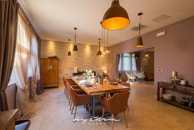 Spacious and tastefully decorated dining area in the villa