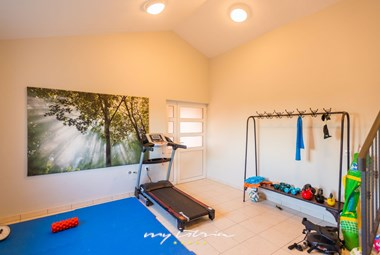 One of villa´s many facilities is a fitness area