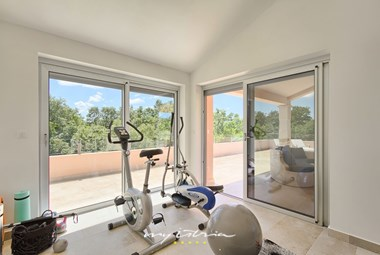 Fitness room at your disposal in Villa Liv