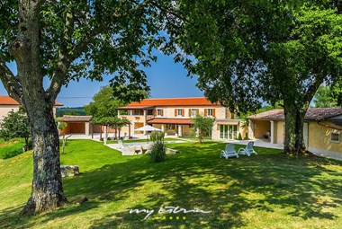 Lovely villa Viscum with private pool and beautiful garden in Central Istria