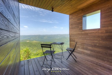 Breathtaking view from villa Vista with lounge area for two