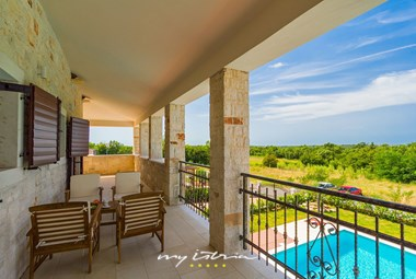 Enjoy beautiful views from the upper floor of the villa