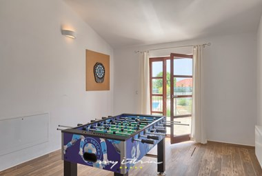 Table football is at your disposal at the villa