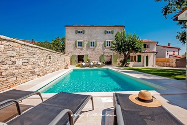Private pool in a charming restored villa