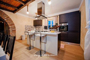 Modern fully equipped kitchen in the villa