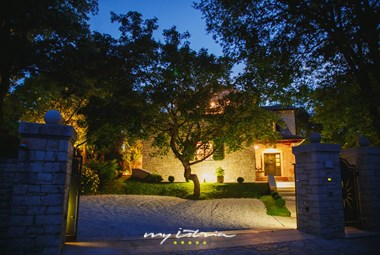 Entrance of lovely Villa Kringa in Istria