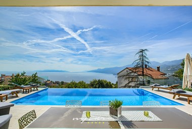 Amazing panoramic view from our villa in Opatija