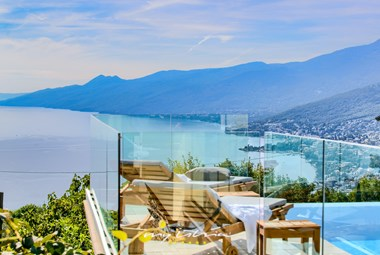 Panoramic view from villa´s terrace