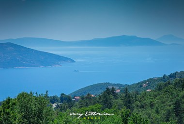 Exceptional sea view from Villa Bambi in Kvarner