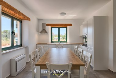 Indoor dining area in Villa Pomer for 10 persons