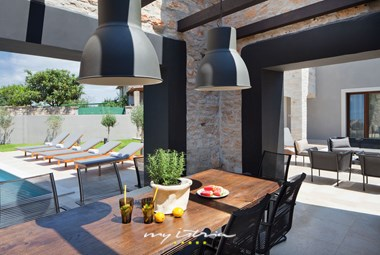 Wonderful terrace outside the villa perfect for an outdoor family meal