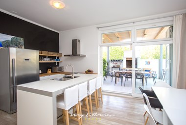 Modern fully equipped kitchen on the ground floor of the villa