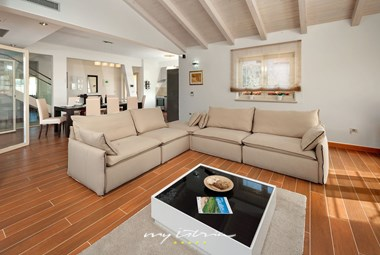 Spacious living room in beautiful villa near Porec