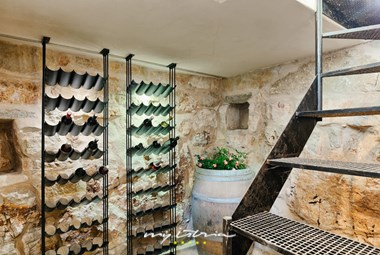 Wine-cellar built in a live rock