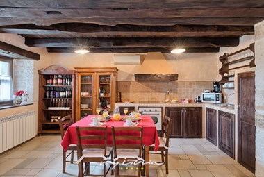 Stylish kitchen in villa Majoli