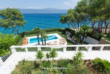 The stunning sea view from our luxury villa in Trogir