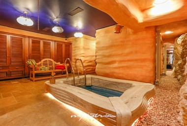 The relaxing spa area in our luxury villa on the Island Ciovo