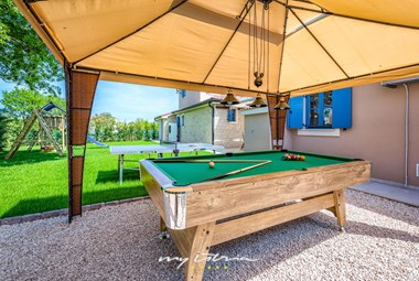 Pool table for more fun at your holiday villa