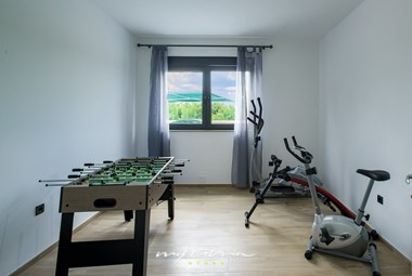 Table football and fitness machines in Villa Stokovci II