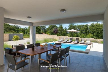 The villa is located on a large property