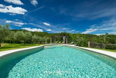 Enjoy the private pool and surrounding nature in Villa Maccaroni in Central Istria