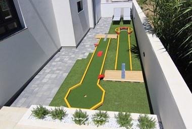 Minigolf for some more fun on your holiday in our villa near Zadar