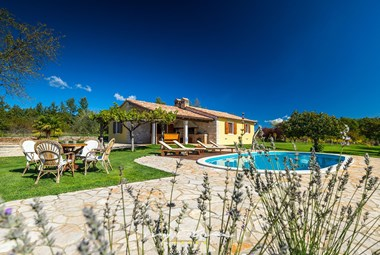 The plot area of Villa Fiore is 12000 m2 large