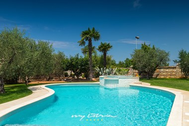 Villa´s private pool is 80 square meters large