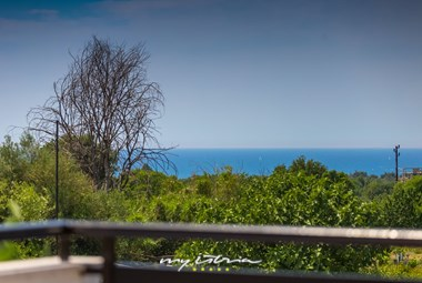 Lovely sea view from the upper floor of the villa
